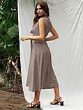 Расклешенное платье-миди без рукавов  в горошек   ЛЕТО, фото 6
