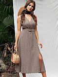Расклешенное платье-миди без рукавов  в горошек   ЛЕТО, фото 5