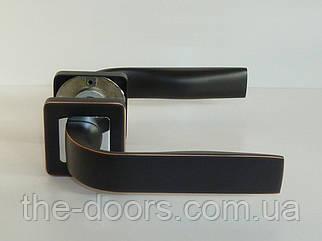 Дверная ручка TRION ELIOS AL-AL BLACK/CP
