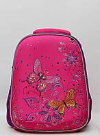 Каркасный ортопедический школьный детский рюкзак для девочки