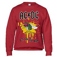 Толстовка Світшот AC/DC Fly On The Wall червона