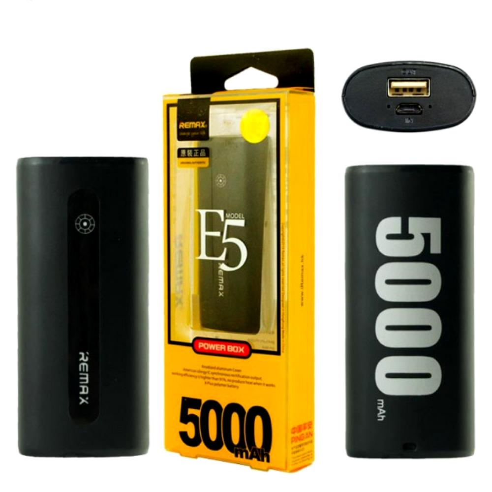 Power Bank Remax E5 5000 mAh черный