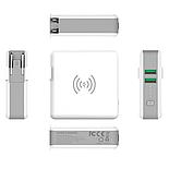 Power Bank KP-Super 6700 mAh c беспроводной зарядкой белый, фото 2