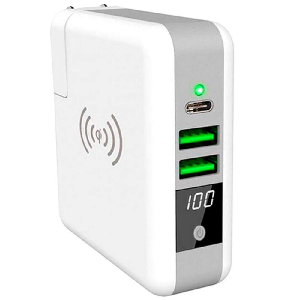 Power Bank KP-Super 6700 mAh c беспроводной зарядкой белый