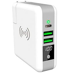 Power Bank KP-Super 6700 mAh c бездротовою зарядкою білий