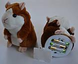 Інтерактивна іграшка говорить хом'як повторюшка, дитяча говорящяя м'яка іграшка, фото 10