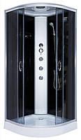 Гидромассажный бокс Ko&Po 126 100x100 душевая кабина задними черными стеклами душевой бокс на низком поддоне