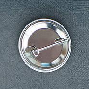 """Корона Баския"" значок круглый на булавке Ø32 мм, фото 2"
