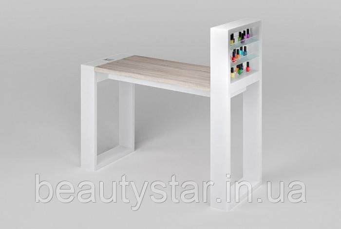 Манікюрний стіл модульний для салону краси з надбудовою столик для майстра манікюру VM142