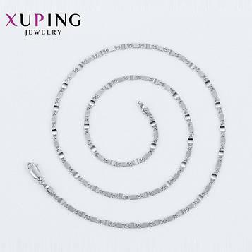 XUPING Цепочка Родий плетение Улитка Длина 45см, Ширина 0.3см