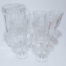 Набір склянок 300 мл глечик полікарбонат 2.5 л