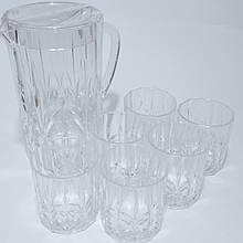 Набір склянок 410 мл глечик полікарбонат 2.5 л