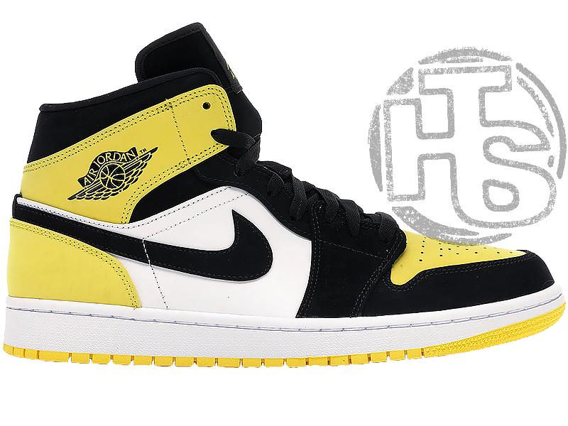 Жіночі кросівки Air Jordan 1 Mid Yellow Toe Black 852542-071