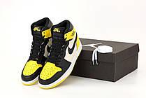 Жіночі кросівки Air Jordan 1 Mid Yellow Toe Black 852542-071, фото 3