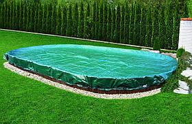 Защитный брезент для накрытия овального сборного бассейна, 7.3 х 3.7 метра