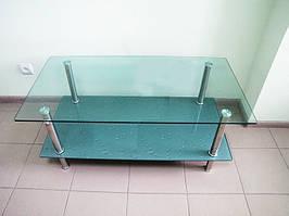 Стіл журнальний скляний столик з поличкою LF049 3806 110*60