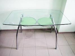 Стіл скляний обідній для кухні D323 1257*75