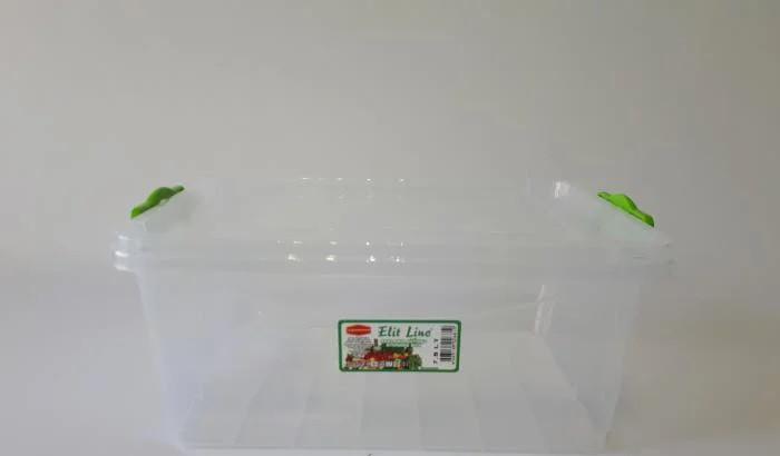 Пластиковий харчової 32*23 см контейнер з кришкою 7,5 л 2681 висота 14,5 см