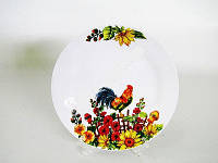 Тарелка Петух мелкая 22.5 см керамика