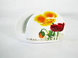 Підставка для серветок керамічна Маки