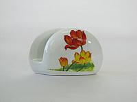 Підставка для серветок керамічна Тюльпани