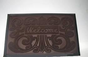 Придверні килимок Welcom 45*75 см коричневий VT6-14092