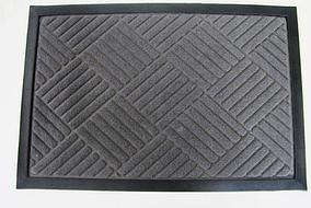 Придверні килимок Welcom 40*60 см сірі ромбики VT6-14089