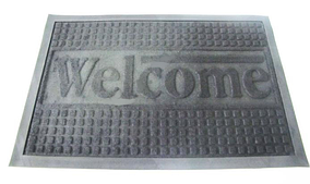 Придверні килимок Welcom 40*60 см чорний VT6-14095