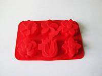 Форма силіконова на планшеті 16*26 см з 6-ти Квіти