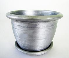Кашпо квіткове металік 16*12 см VT6-12299 Вазон пластиковий