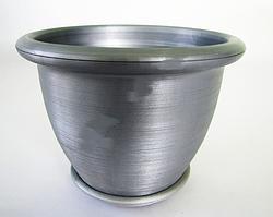 Кашпо квіткове металік 19 см VT6-12301