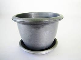 Кашпо квіткове металік, d 14cm., h 10cm VT6-12298