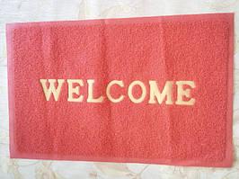 """Придверні килимок """"Welcome"""", кольори МІКС 58 * 78 см"""