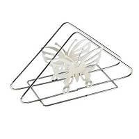 Підставка для серветок нержавійка трикутна Метелик 13,5 см