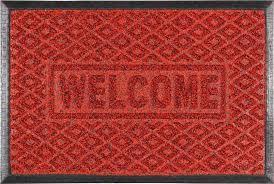 Придверні килимок Welcom 45*75 бордо VT6-14090