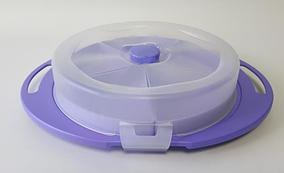 Менажниця кругла з кришкою 35*27*7,5 см пластикова G 222 для перенесення