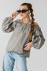 Стильная подростковая блузка Полоска TM Barbarris. Размеры 134- 164