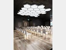 Світлодіодний світильник СОТА 60 см шестикутний SOTA 60 підвісний/накладний для інтер'єру