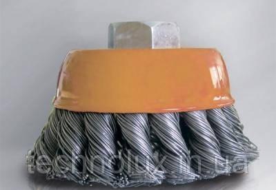 Щетка торцевая из плетеной проволоки d125 WERK
