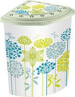 Угловая корзина для белья Elif Цветы 338-21 #PO