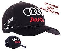 Мужская молодежная модная стильная спортивная кепка бейсболка блайзер с логотипом авто Audi S-line Ауди, фото 1