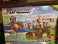 Большой Конструктор лего Майнкрафт 897 деталей Lego Minecraft