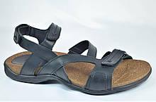 Мужские кожаные сандалии черные Step Wey 1072