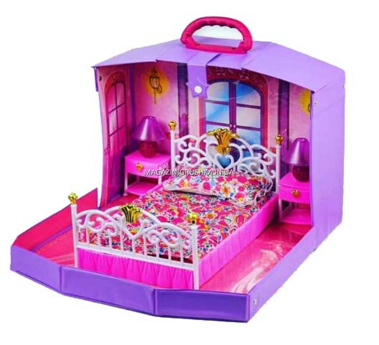 Детский игровой набор для девочек Домик Барби спальня в чемодане Best Toys (99001HB)