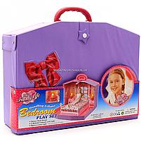 Дитячий ігровий набір для дівчаток Будиночок Барбі спальня у валізі Best Toys (99001HB), фото 2