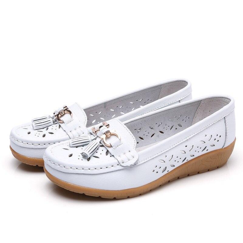 Туфлі мокасини жіночі білі натуральна шкіра Т1327
