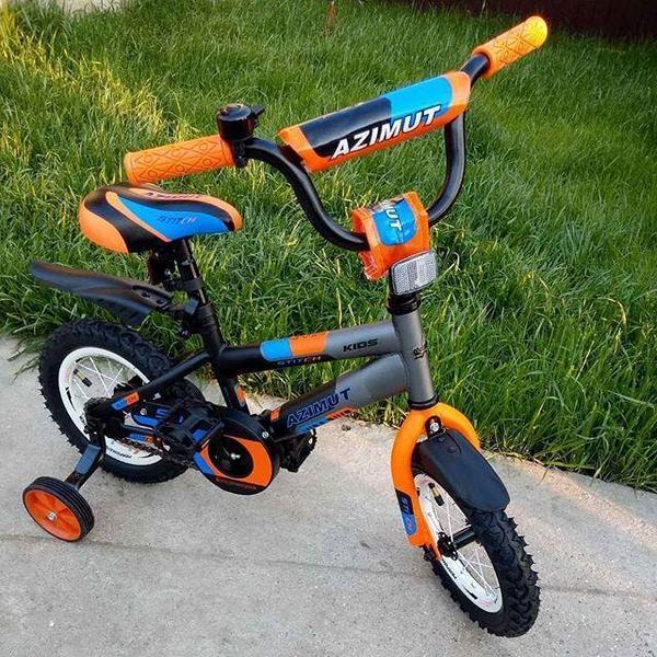 Двухколесный детский велосипед  12  дюймов Azimut Stitch