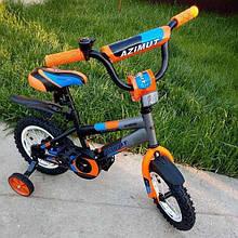 Двоколісний дитячий велосипед 12 дюймів Azimut Stitch