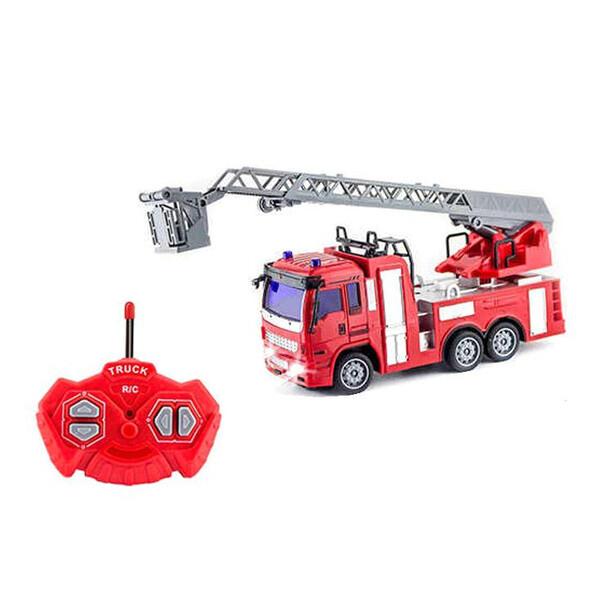 Пожарная машина на радиоуправлении игрушка детская Спецтехника с подсветкой Красный (58152)