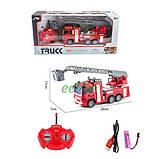 Пожарная машина на радиоуправлении игрушка детская Спецтехника с подсветкой Красный (58152), фото 2